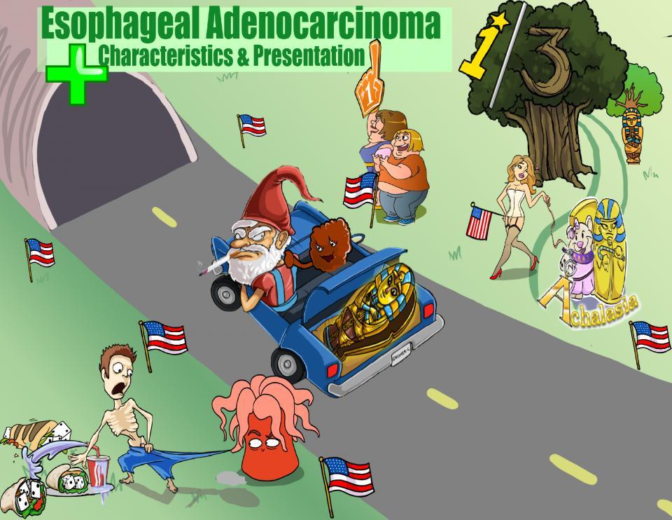 Esophageal Adenocarcinoma Characteristics and Presentation