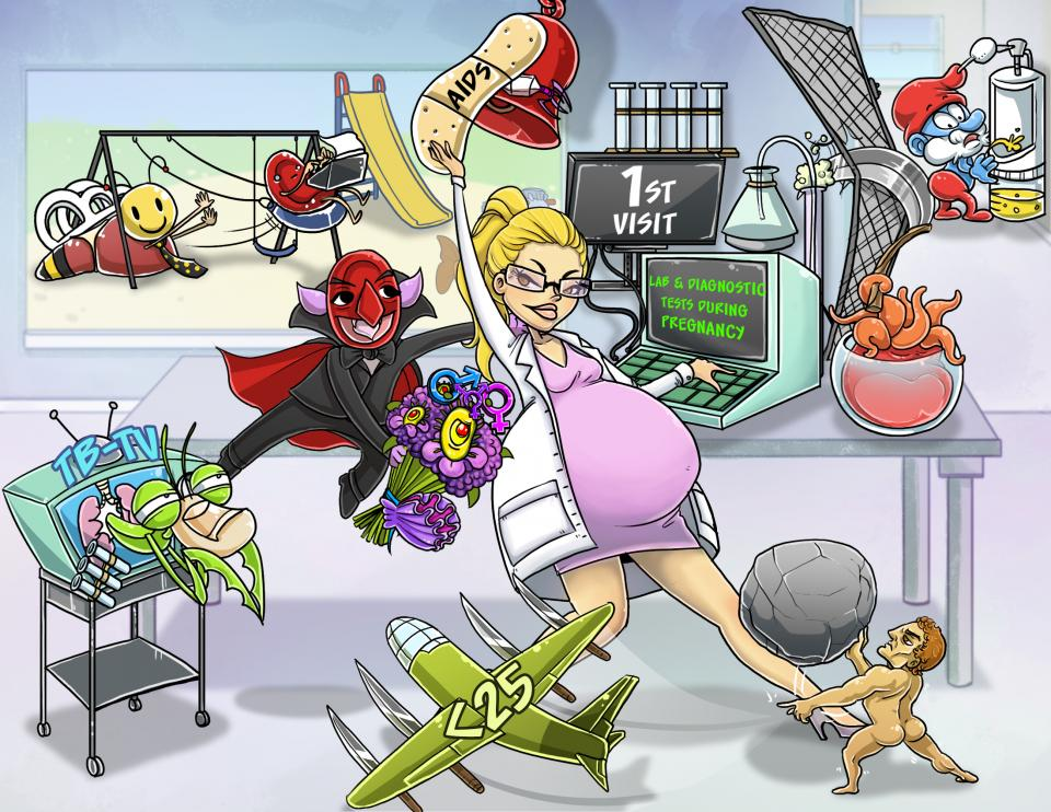 Lab and Diagnostic Tests During Pregnancy  (1st Visit)