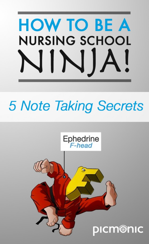 How to Be a Nursing School Ninja - 5 Notes