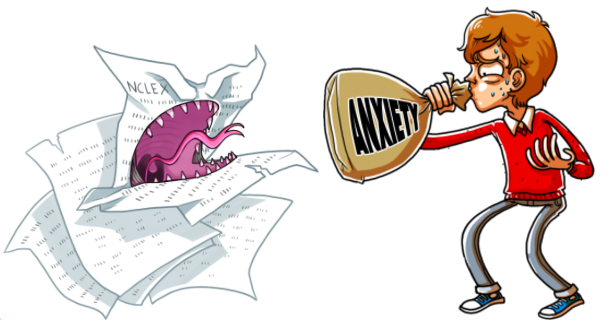test-taking anxiety - nclex monster