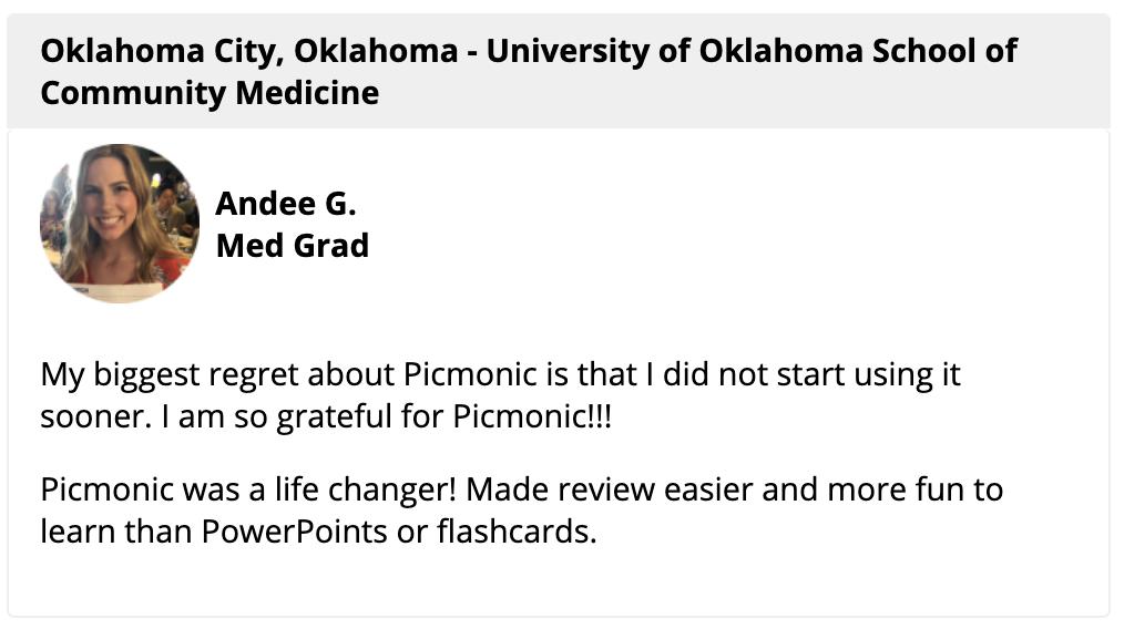 Picmonic Med Student Revew