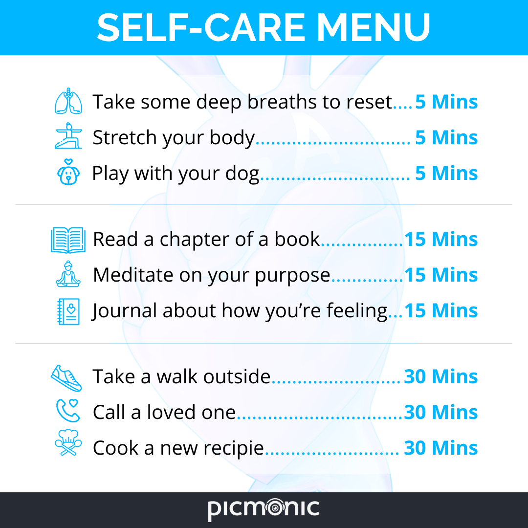Self-Care Menu