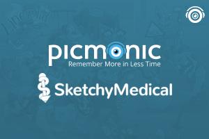 Picmonic logo over Sketchy Medical logo