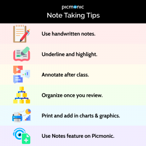 Picmonic Note Taking Tips