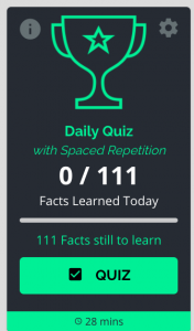 daily quiz browse spaced repetition