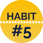 Habit #5 for your second year of medical school.