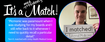 Match With Your Dream Residency with Picmonic, Just Like Tom K.!