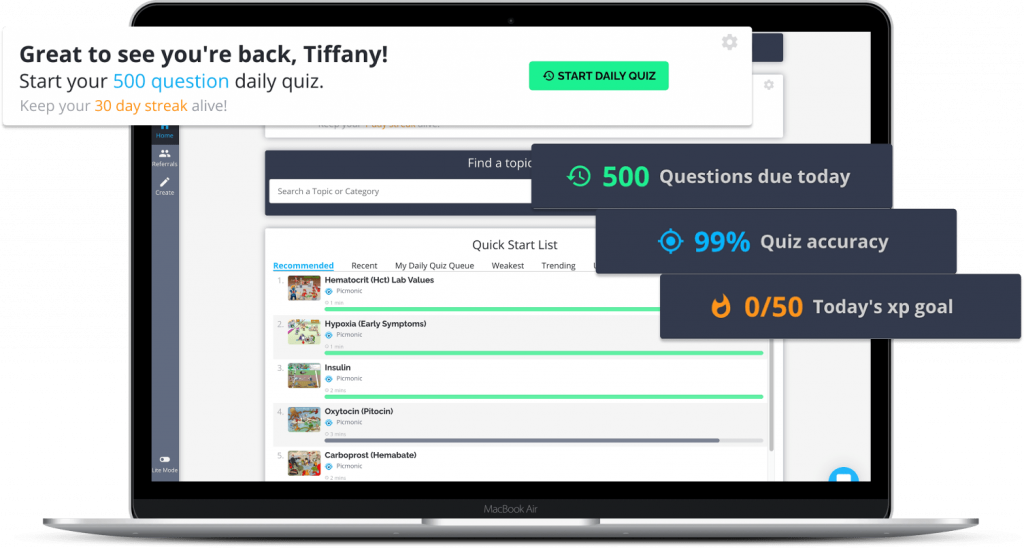 personalized dashboard spaced repetition