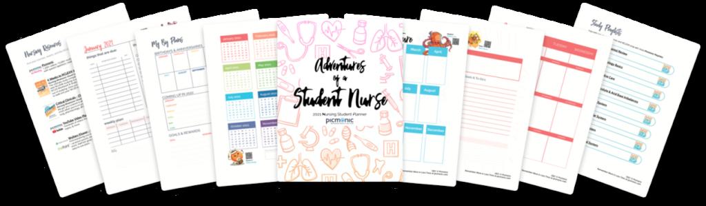 2021 Picmonic Nursing Student Daily Planner